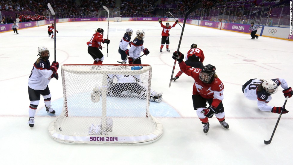 Everyone loves a comeback ... Facing a two-goal deficit, Canada secured a 3-2 victory over the U.S. in the women's ice hockey final.