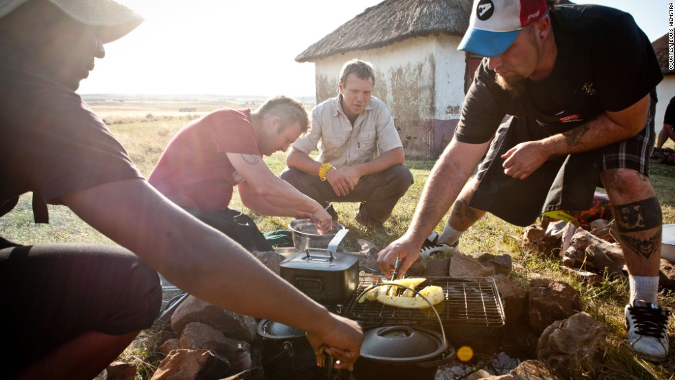 "Enjoyed in rural areas and cities, and among all cultures, the South African version of the barbecue -- the ""braai"" -- combines homemade kit and exotic meats."