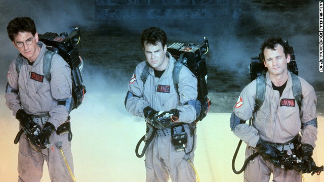 "Harold Ramis, Dan Aykroyd and Bill Murray star in the 1984 film ""Ghostbusters."""