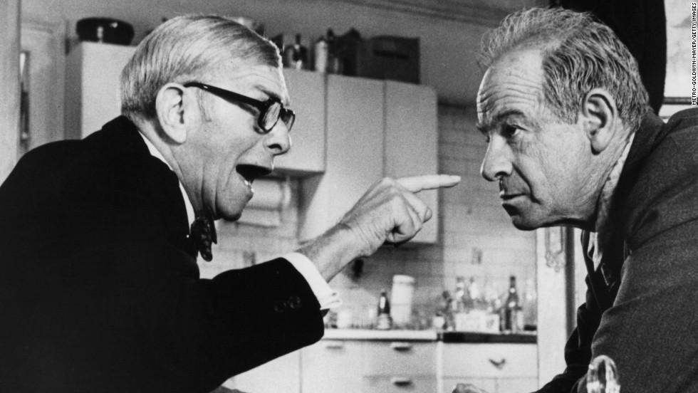 "George Burns, left, had been in show business for decades, but hadn't appeared in movies for more than 30 years when he took the  role opposite Walter Matthau in 1975's ""The Sunshine Boys"" because his friend, Jack Benny, had died. After winning a supporting actor Oscar at 80, he appeared in several more films, including ""Oh, God!"" (1977) and ""Going in Style"" (1979)."