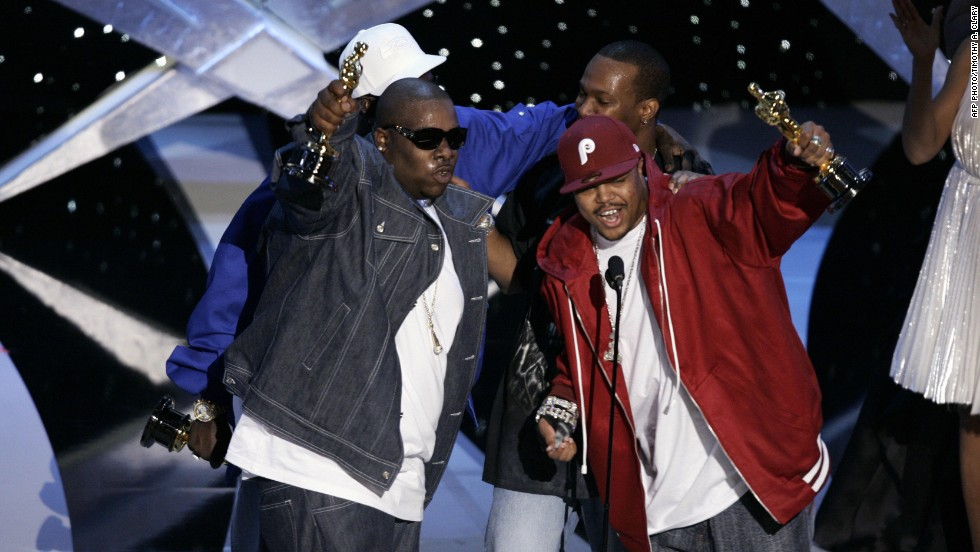 "Who would have believed that a rap group would beat Dolly Parton for best original song at the Academy Awards? But it happens in 2006 when Three 6 Mafia won for ""It's Hard Out Here For a Pimp"" from the film ""Hustle & Flow."""