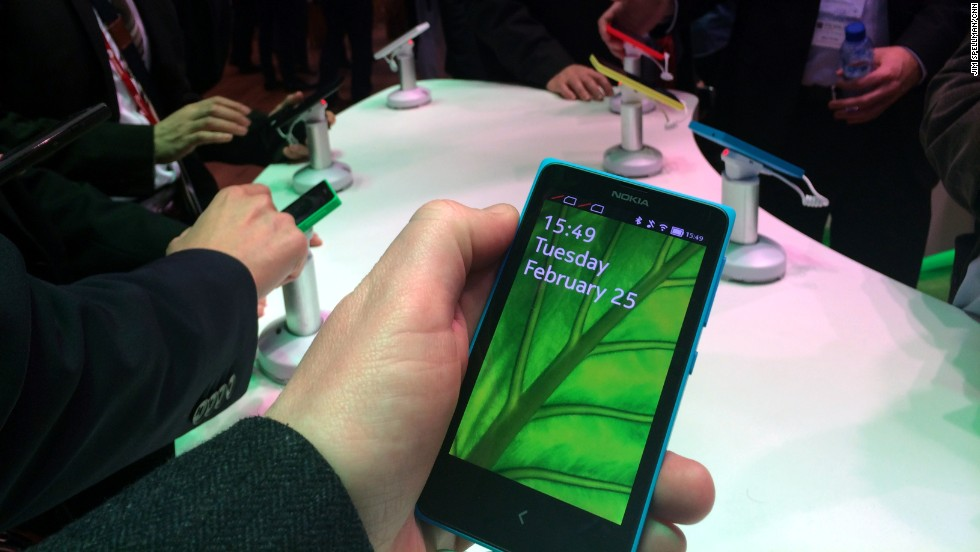 "The new<a href=""http://money.cnn.com/2014/02/24/technology/mobile/nokia-x-android/""> Android-powered</a> <strong>Nokia X</strong> range."