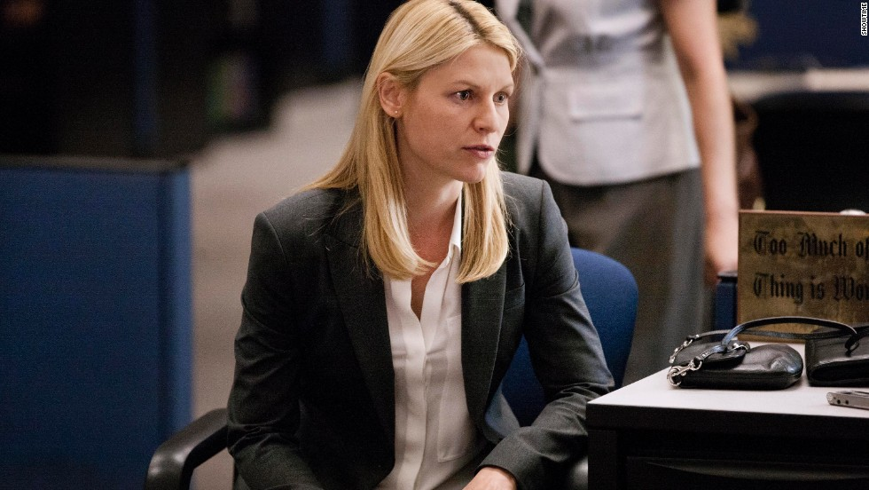 "Claire Danes as Carrie Mathison in a scene from Showtime's series ""Homeland."" The taut espionage drama has been full of don't-spoil-them twists, including the deaths of major characters."