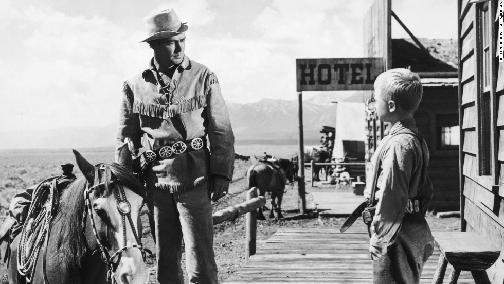 """Brandon De Wilde, here with Alan Ladd, got one of the best lines in film history: """"Shane, come back!"""" At 11, he earned a best supporting actor nomination for his performance in """"Shane"""" (1953)."""