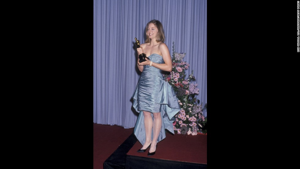"We'll cut 1988 Jodie Foster some slack because she did win a best actress Oscar that year for ""The Accused."" Instead, we'll blame this sky-blue mullet of a prom dress on it being the '80s -- and on the person who told her <a href=""http://oscar.go.com/red-carpet/photos/evolution-of-style/media/n-644-1988-02-actress-foster"" target=""_blank"">it was a good idea to shop off the rack.</a>"