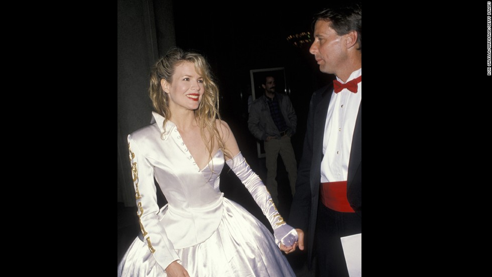 "Kim Basinger in ""Nine ½ Weeks""? Sign us up. Kim Basinger, fashion designer? Not the best idea. You see what happened when she tried that in 1990."