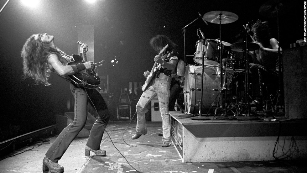 Nugent, left, plays the guitar at Alex Cooley's Electric Ballroom in Atlanta in 1975.