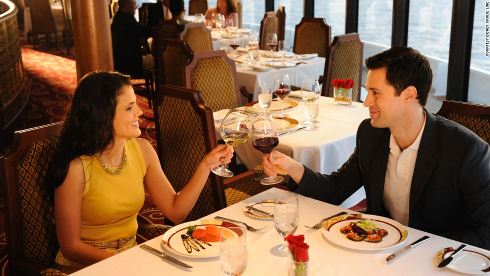 "Parents and other adults can enjoy grown-up dinners aboard the Disney Fantasy, which may be why the entertainment giant's cruise ship won the ""best dining"" award in the large ship category."
