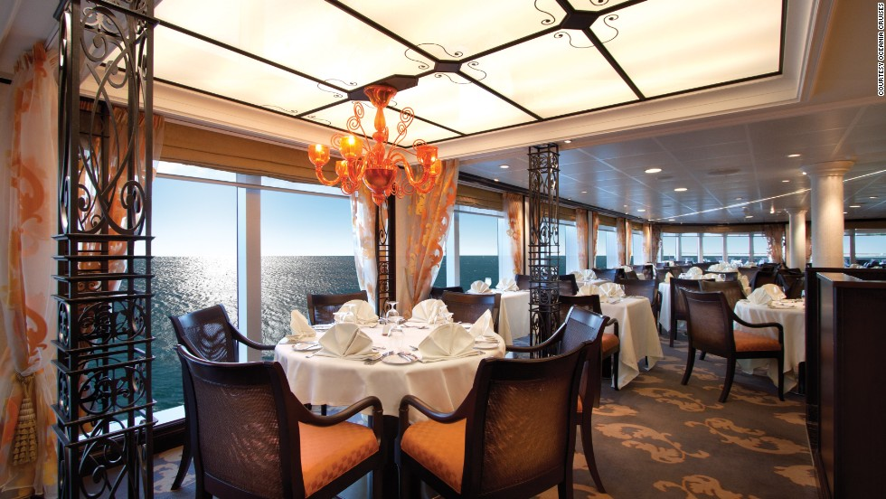 Oceania's Riviera ship took 3 of the top 10 honors in the mid-size category, including best dining, best cabins and best public rooms. Dine at Jacques, a restaurant by Jacques Pépin, and take cooking classes in the Bon Appétit Culinary Center.