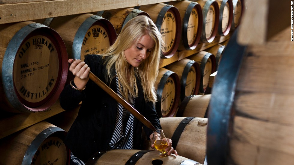 "The nascent <a href=""http://www.gourmettasmania.com.au/places/category/whisky/"" target=""_blank"">Tasmanian Whisky Trail</a> runs through central Tasmania. At Overeem Distillery in Hobart, Jane Overeem has been tasting whiskey since she was 18, primarily as a producer for her family's business."