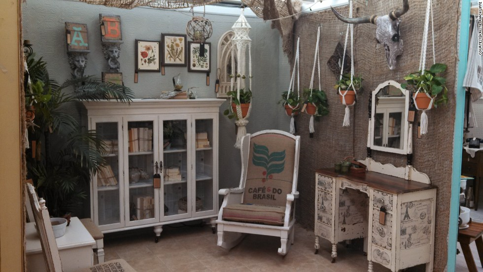 Rackliffe completely redecorates her antique booth a few times a month.