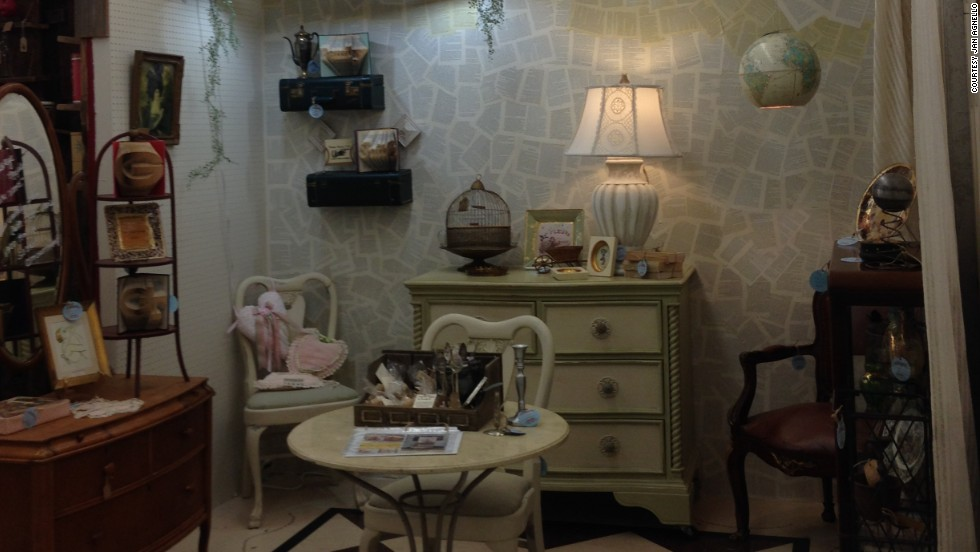Agnello's booth at the Queen of Hearts antique mall.