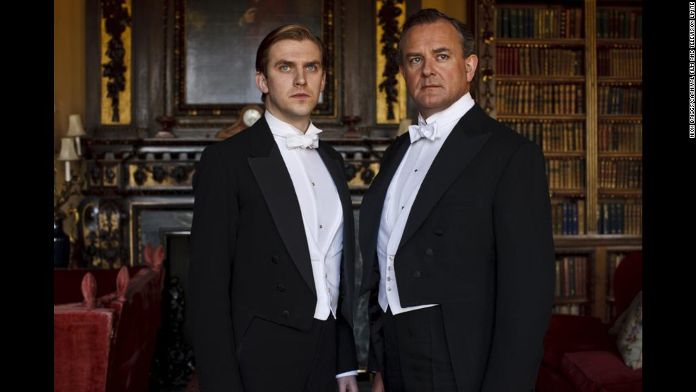 White tie and tails was essential evening wear for men, although by season four, black tie is starting to be accepted for some less formal occasions.