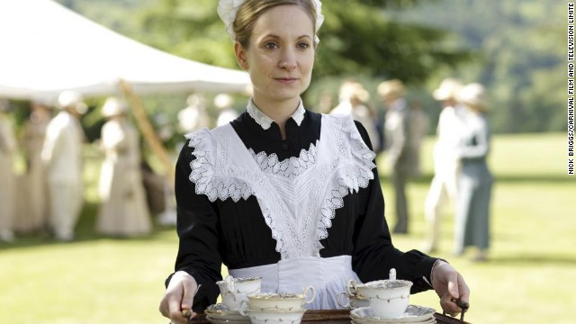 "Actress Joanne Froggatt who stars as lady's maid Anna Bates in the period drama ""Downton Abbey."""
