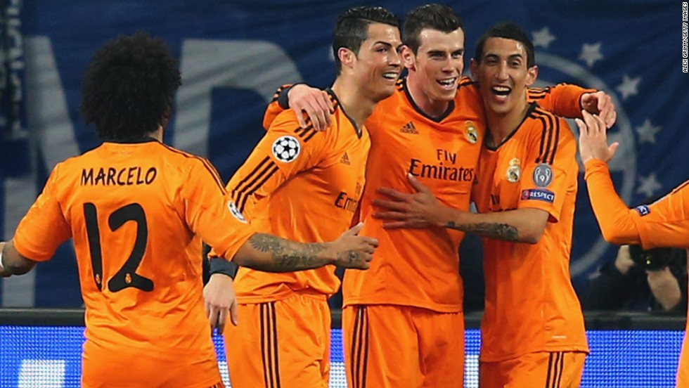 Real Madrid has also all but booked a place in the quarterfinals after a stunning 6-1 triumph at Schalke, with forwards Cristiano Ronaldo, Gareth Bale and Karim Benzema all scoring twice.