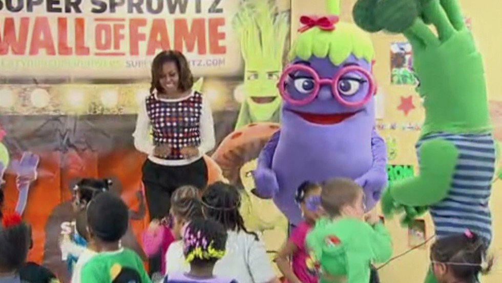 Why Michelle Obama dances with veggies