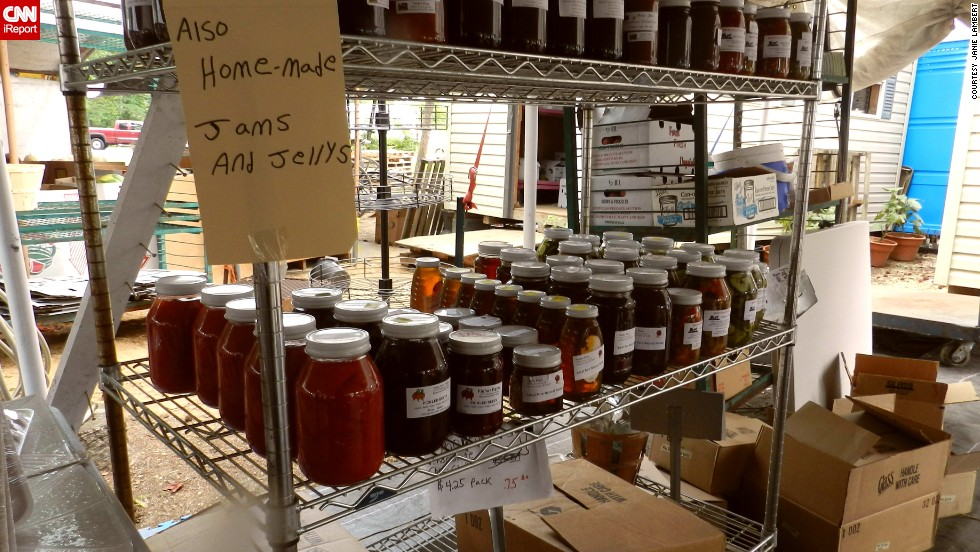 """All produce is locally grown, beautiful and delicious,"" Lambert says. ""You can also find Amish made baked goods, canned veggies and fruits, jam, jellies and local honey. The fresh churned butter is the best."""