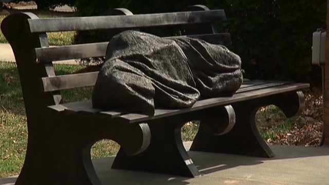 dnt nc homeless jesus statue controversy_00002030.jpg