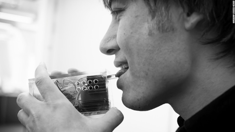 The device contains magnetic coils that send electric signals into the brain's olfactory bulb to simulate the effect of smell. Cheok hopes to have a prototype available within two years.