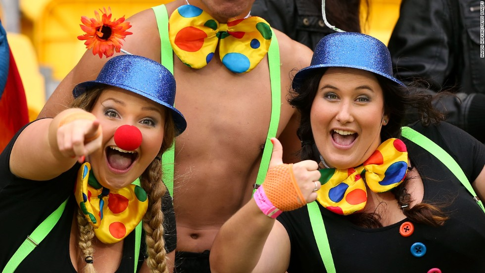 It is traditional for sevens fans to turn up in all manner of fancy dress.