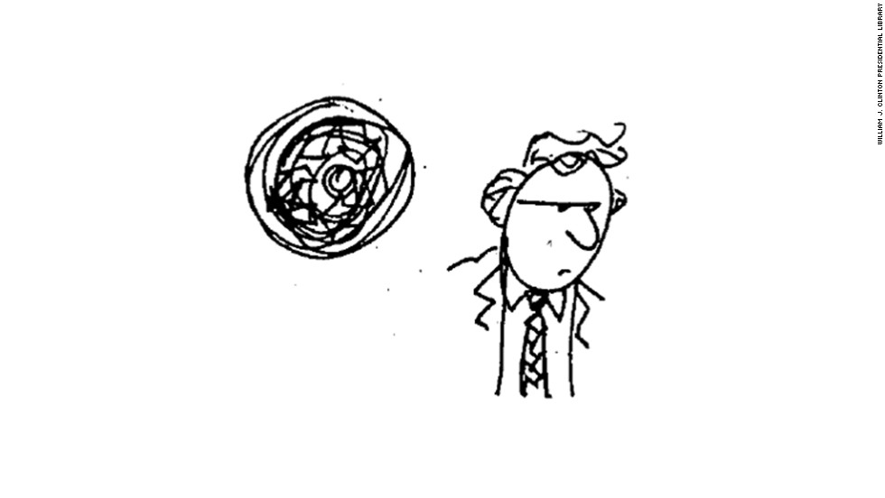 This doodle was also created by Shesol during that meeting on June 1, 1998.