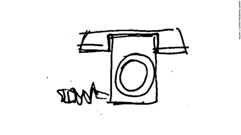 The doodle of what appears to be an old-style telephone was sketched by Shesol during a May 26, 1998, White House meeting.