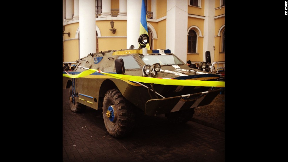 "KIEV, UKRAINE:  ""APC in central Kiev (March 1).  It appeared the morning after Russian forces moved into the Crimea."" -- CNN's Ian Lee.  Follow Ian on Instagram at <a href=""http://instagram.com/ianjameslee"" target=""_blank"">instagram.com/ianjameslee</a>."