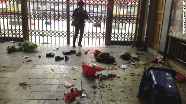 China blames separatists for knife attack