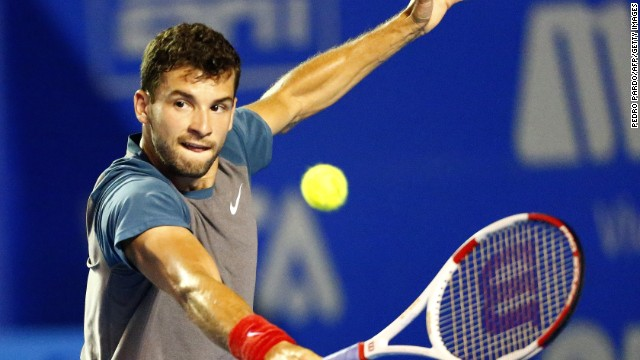 Grigor Dimitrov showed his fighting qualities to win the ATP event in Mexico with a three-set win in the final over Kevin Anderson.