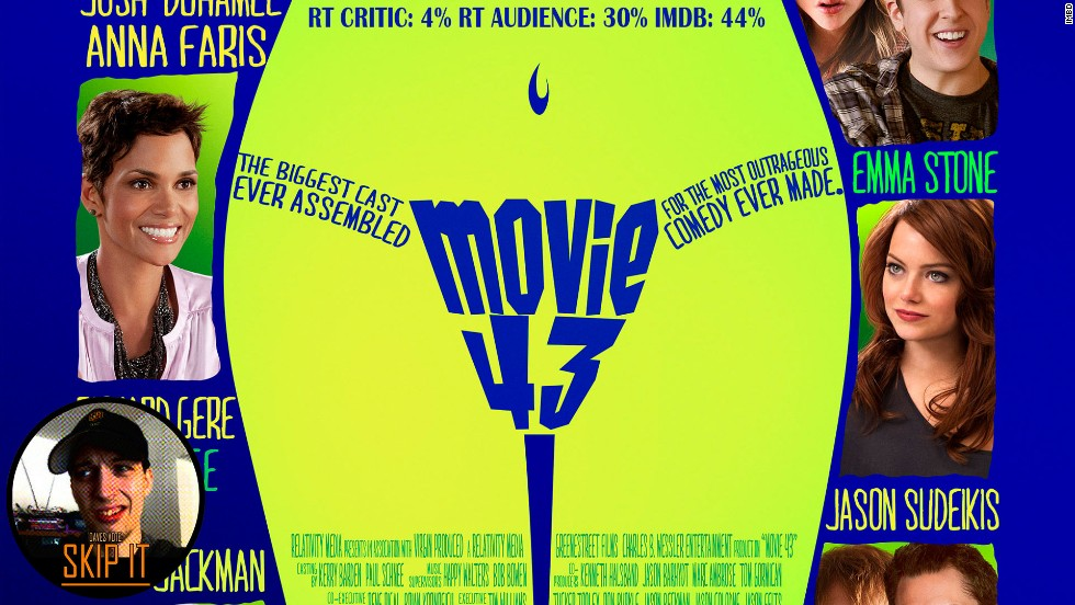 """Movie 43"" took worst picture of the year in 2014. The film, a compilation of lowbrow shorts, didn't do well at the box office, either."