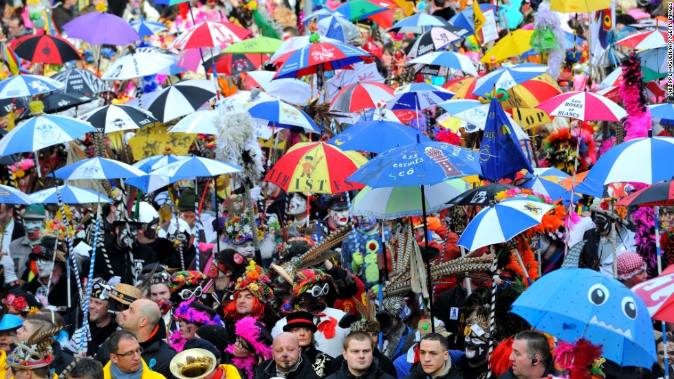 People take part in the Carnival of Dunkirk in northern France on March 2.