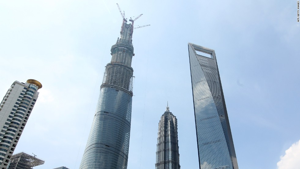 <u><em><strong>Name:</em></strong></u> Shanghai Tower<br /><br /><strong><u><em>Location:</u></em></strong> Shanghai, China<br /><u><strong><em><br />Height:</u></em></strong> 632 meters (2,073 feet)<br /><br /><u><strong><em>Description:<em></u></em></strong> </em>The Shanghai Tower is currently the tallest building in China and the second tallest building in the world, behind the Burj Khalifa in Dubai, having been topped out in 2013. When it officially opens in 2015 it will house office space as well as one of the world's highest hotels.