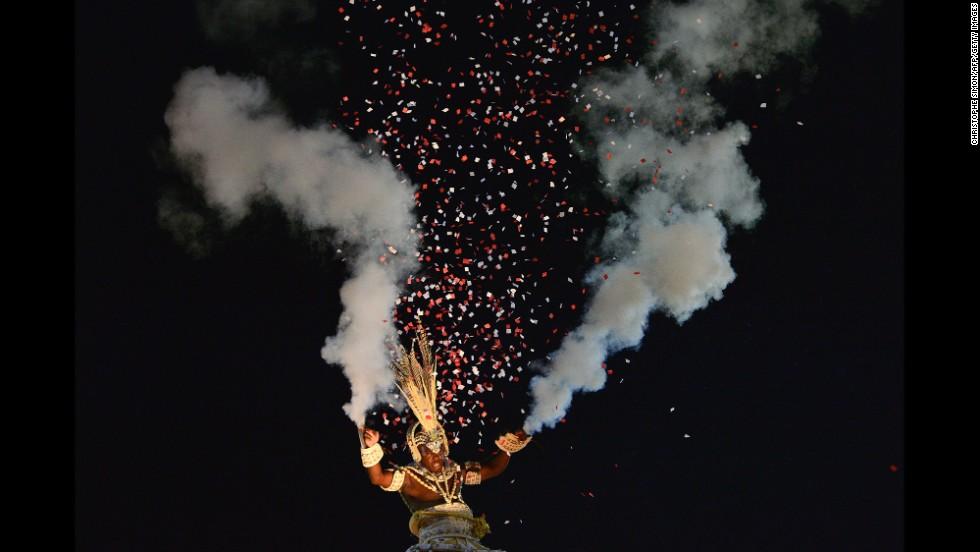 A performer in Rio de Janeiro on March 3.