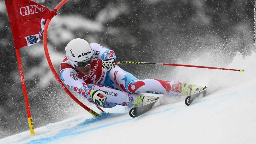 Johan Clarey competes during a World Cup super-G event Sunday, March 2, in Kvitfjell, Norway.