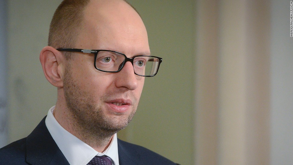"<strong>Ukrainian Prime Minister Arseniy Yatsenyuk: </strong>Ukraine's interim prime minister has urged Russia to pull back its military, warning that the two countries were ""on the brink of disaster."" The comments came as a convoy of Russian troops rolled toward Simferopol, the capital of Crimea, a day after they took over the strategic Black Sea peninsula without firing a shot. ""There are no grounds for the use of force against civilians and Ukrainians, and for the entry of the Russian military contingent,"" Yatsenyuk said. ""Russia never had any grounds and never will."""