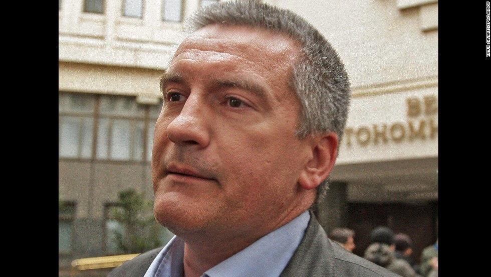 "<strong>Crimean Prime Minister Sergey Aksyonov:</strong> Aksyonov was installed as the prime minister of Crimea after armed men took over the Crimean Parliament building in late February. The pro-Russian leader asked Putin for help in maintaining peace on the Black Sea peninsula where Russia's fleet is based. Security forces ""are unable to efficiently control the situation in the republic,"" he said in comments broadcast on Russian state channel Russia 24."