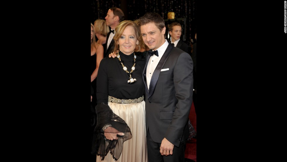 Jeremy Renner and mother Valerie Cearley arrive at the 83rd Annual Academy Awards on February 27, 2011, in Hollywood, California.