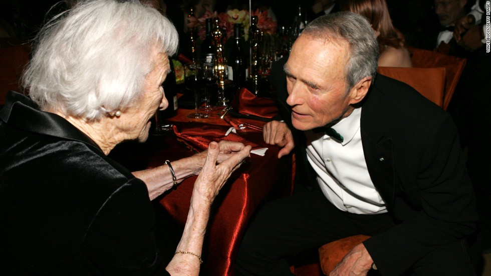 Clint Eastwood and his mother, Ruth, attend the Governors Ball after the 77th Annual Academy Awards on February 27, 2005 in Hollywood, California.