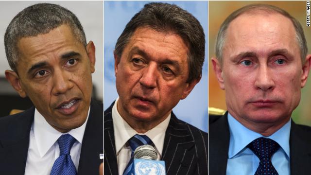 U.S. president Barack Obama, Ukraine Ambassador to the United Nations Yuriy Sergeyev, and Russian president Vladimir Putin have very different stories over what's happening in Ukraine.