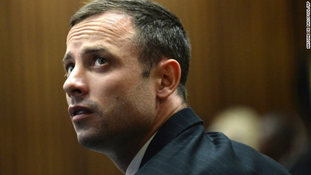 Oscar Pistorius appears on the second day of his trial at the high court in Pretoria, South Africa, on Tuesday, March 4.