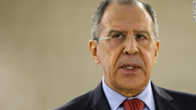 Russian Foreign Affairs minister Serguei Lavrov delivers a speech at the UN Human rights Council session on March 3, 2014 in Geneva.