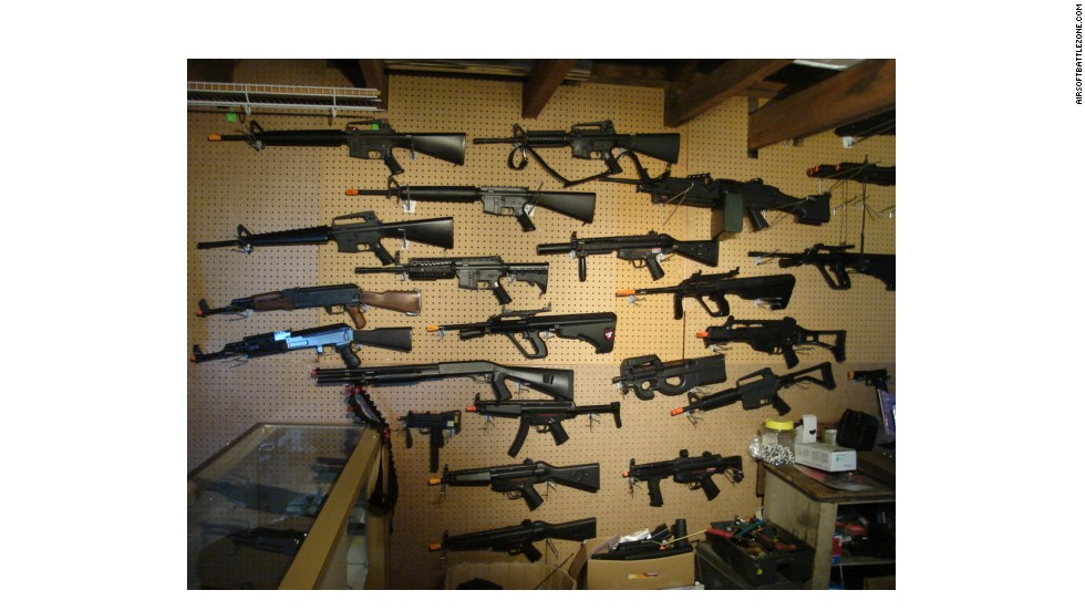 "Venezuelan Vice President Diosdado Cabello shared on television a photo showing an arsenal of ""assault weapons"" that he said belonged to a retired general involved in a standoff with authorities. The photo actually shows a collection of air rifles used by hobbyists. The photo was taken from the website of a rental shop in Wisconsin."