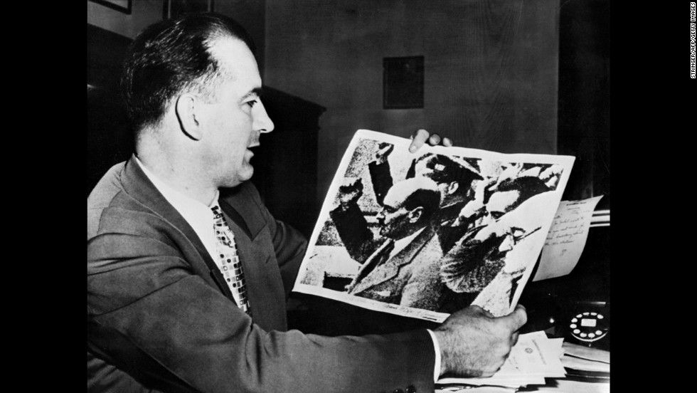 The Rosenbergs' conviction helped fuel the rise of McCarthyism, the anti-communist campaign led by U.S. Sen. Joseph McCarthy of Wisconsin in 1953-54 at the peak of the Cold War. Nearly 400 Americans -- including the ordinary, the famous and some who wore the uniform of the U.S. military -- were interrogated in secret hearings, facing accusations from McCarthy and his staff about their alleged involvement in communist activities. While McCarthy enjoyed public attention and initially advanced his career with the start of the hearings, the tide turned. His harsh treatment of Army officers in the secret hearings precipitated his downfall.