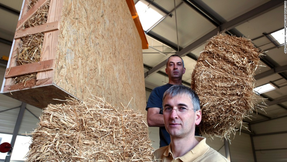 "Another natural material with carbon negative production: lowly straw is making a return to construction. In America's ""Nebraska Method"" homes, <a href=""http://www.architecture.com/SustainabilityHub/Designstrategies/Earth/1-1-1-8-Strawbaleconstruction.aspx"" target=""_blank"">straw bales</a> are used as a both a structural and insulating material. Companies such as UK's <a href=""http://www.modcell.com/"" target=""_blank""><strong>ModCell</a></strong> manufacture pre-fabricated wall and roof panels from straw."