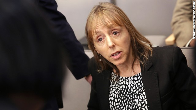 [FILE PHOTO:] Medea Benjamin, an activist from the organization called Code Pink, on May 23, 2013 in Washington, DC.