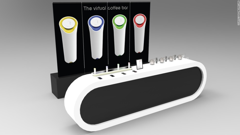 """Experimental Parisian outfit Le Laboratoire has created the <a href=""""http://vaporcommunication.com/#he-t"""" target=""""_blank""""><strong>oPhone</a></strong>, a handheld device that allows a user to combine aromas and send their composition as a message. Upon arriving at another user's device, this message will recreate the odor for for the recipient to smell."""