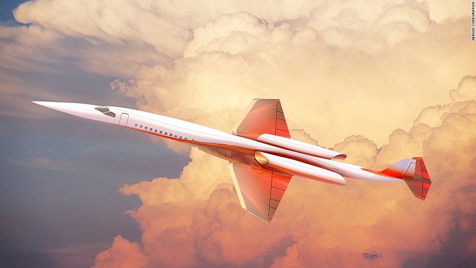 Aerion Corporation is also developing a supersonic business jet that could hit speeds of Mach 1.6. To help eliminate drag and reduce fuel costs, they've teamed up with NASA to come up with a technologically advanced wing design that can reduce overall drag by 20%.