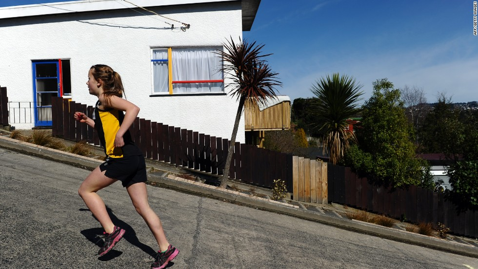Residents of Baldwin Street in Dunedin, New Zealand, don't need exercise machines. Walking home is enough.
