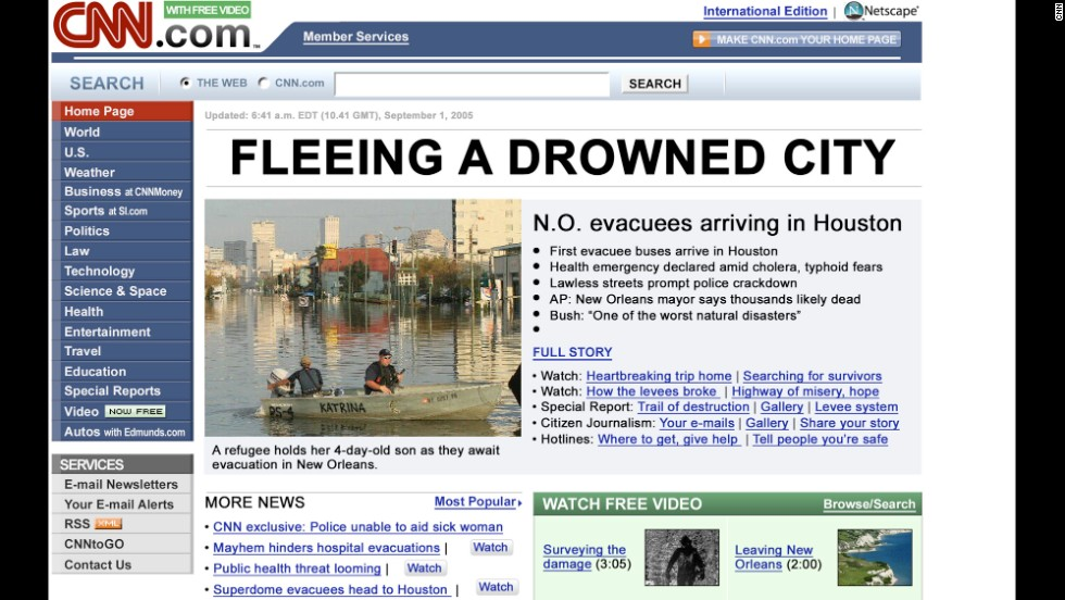 CNN.com reporters were on the scene in New Orleans during Hurricane Katrina in 2005.