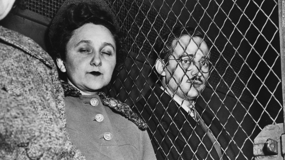On March 29, 1951, Julius and Ethel Rosenberg were convicted of selling U.S. atomic secrets to the Soviet Union. The Rosenbergs were sent to the electric chair in 1953, despite outrage from liberals who portrayed them as victims of an anti-communist witch hunt.